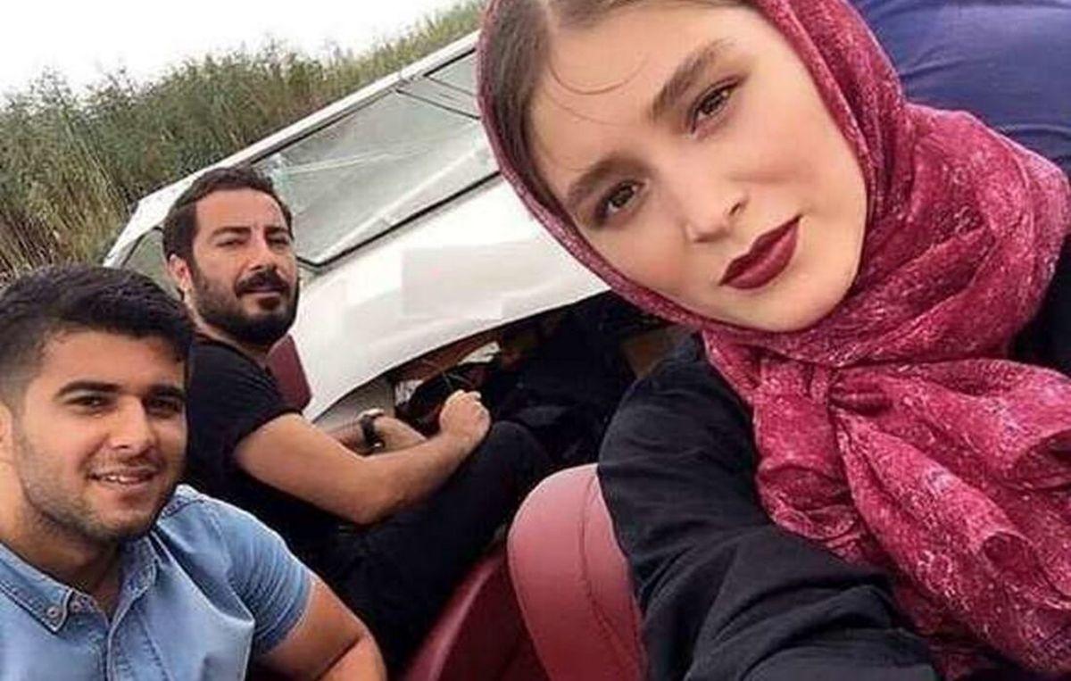تیپ عجیب نوید محمدزاده در کنار پدرزنش! +عکس