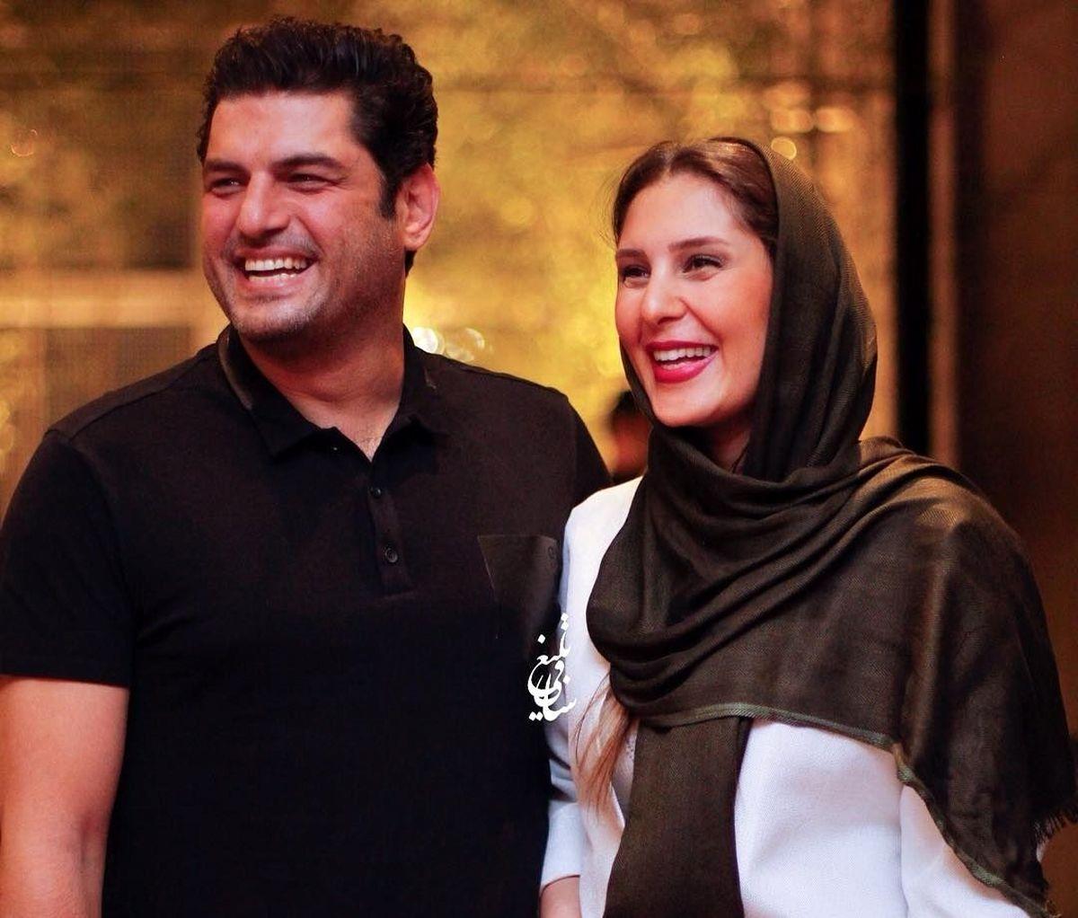 تصاویر لورفته از جشن عروسی سام درخشانی و همسرش