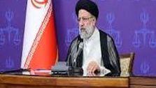 اعلام کاندیداتوری رئیسی در کنار مزار شهید سلیمانی