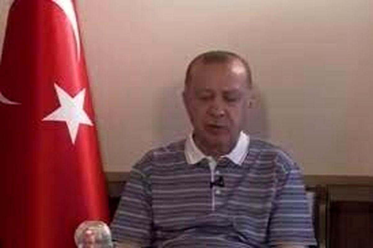 چرت اردوغان وسط پیام زنده ویدئویی!