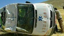 حادثه وحشتناک برای آمبولانس اورژانس