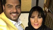 تصاویر لورفته از جشن عروسی سام درخشانی و همسرش +عکس دونفره