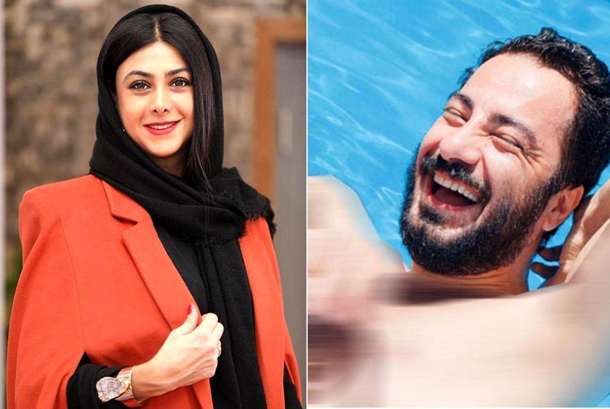 دیالوگهای عجیب و 18+ آزاده صمدی و نوید محمدزاده در تئاتر!